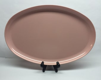 Vintage Pink Melamine, Tray and Platter, Kitchen and Dining, Serving Platter Oval Melamine Genuine Melamine ,Spaulding Ware Tray ,