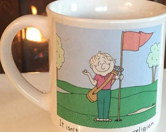 Mug Golfing It Isn't A Game, It's A Religion By Dale Coffee Mug Recycled Paper Prouducts