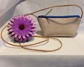 SALE Cork - Mini Crossbody - Zippered Pouch - White Cork Color