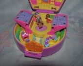 Vintage 1994 Bluebird Polly Pocket Pony Ridin' Show - Pony Parade Collection - Complete with Horse, 2 Figures, Trophy