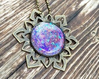 Heartstone Amulet Pendant Necklace