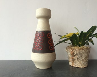 1960s/1970s West Germany Fat Lava Pumice Style Vase