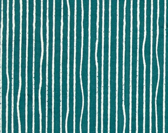 Teal Yarn Stripes From Birch Organic Fabric's Farm Fresh Collection by Jay-Cyn Designs