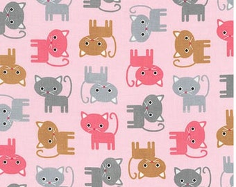Kittens on Blush from Robert Kaufman's Urban Zoologie Collection by Ann Kelle