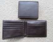 Leather Wallet with Removable Passcase, Brown, Vintage, by Dopp