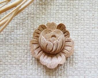 Wooden Brooch PHUD TAN