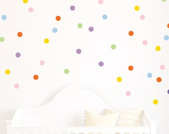 Polka Dot decals - Polka Dots - Playroom Decor Polka Dot Wall Decals  Design Bundles
