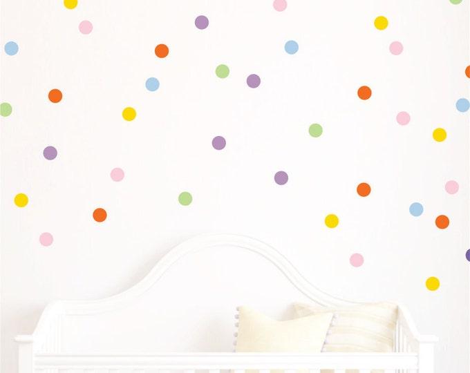 Polka Dot decals - Polka Dots - Playroom Decor Polka Dot Wall Decals  Design Bundles