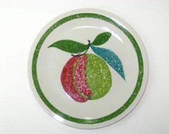 Vintage Mid Century Villeroy & Boch Mottahedeh Design Fruit Apple Salad Plate Luxembourg