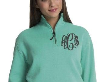 Monogrammed Pullover Quarter Zip Sweatshirt, Monogram Sweatshirt, Monogram Pullover, 1/4 Zip Monogrammed Pullover, Monogrammed Jacket