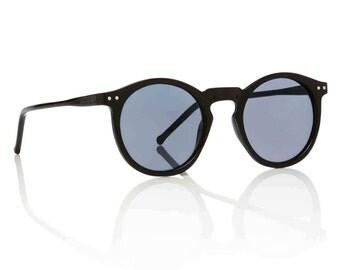 OMalley Round Black Sunglasses X American Deadstock