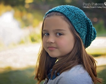 Knitting Pattern - Slouchy Hat Pattern - Knit Hat Pattern - Easy Hat Knitting Pattern - Baby, Toddler, Child, Adult Sizes - PDF 431