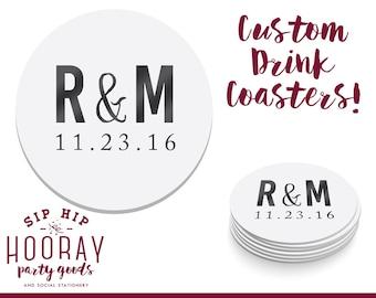 Wedding Coasters, Personalized Coasters, Custom Wedding Coasters, Custom Coaster, Wedding Favors, Personalized Wedding Favor, Coasters, 1413