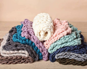 Newborn Bump Blankets - CHOOSE YOUR 3 COLORS - Essential bump blankets - photography props - knitbysarah - Stitches by Sarah
