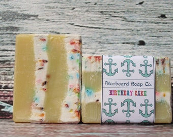 Birthday Cake Soap Handmade with Shea Butter and Avocado oil