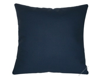 Navy Blue Solid Decorative Throw Pillow Cover / Pillow Case / Cushion Cover / Cotton / 20x20""