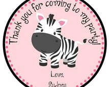 Zebra Gift Tags/ zebra print party tags/ party favor tags/ gift tags/ party favor tag