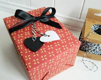 Red Valentine Gift Wrap Paper Set - Valentines gifts