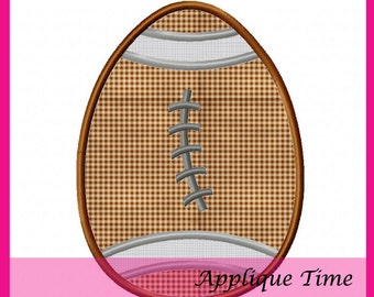 Instant Download Football Easter Egg Machine Embroidery Applique Design 4x4, 5x7 and 6x10
