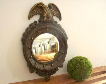 Small Federal Mirror, Eagle Mirror, Fish Eye, Vintage Wall Mirror, Hollywood Regency, Traditional Decor, Homco