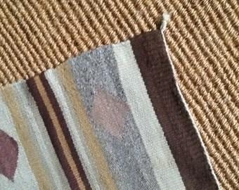 SMALL NAVAJO rug c. 1950's