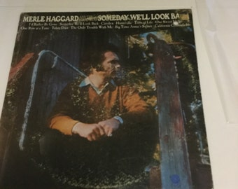 Merle Haggard Someday We'll Look Back on Capitol Records 1971 promo copy