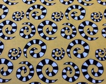 In the beginning  happy fabric sold per half metre.