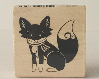 Fox (F3) Wooden Mounted Rubber Stamping Block DIY cards, scrapbooking, tags, Greeting Cards, and Scrapbooking