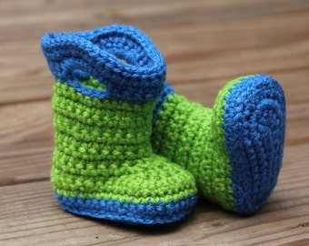 Items similar to CROCHET PATTERN - baby boots, rain boots ...