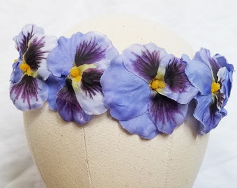Pansy Flower Crown