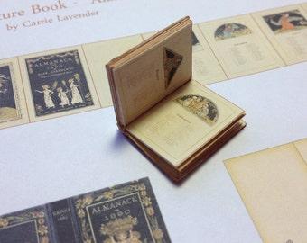 PDF Kate Greenaway 1890 Almanac Miniature Book for Dollhouse 1/12 Scale DIGITAL DOWNLOAD