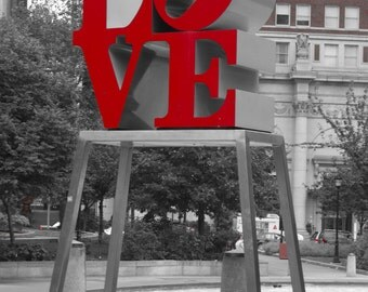 Philadelphia love statue photo print photography 11x14