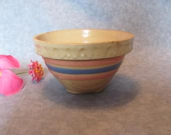 McCoy Yellow Ware Tiny Crock Mixing Bowl, Small McCoy Crock Mixing Bowl
