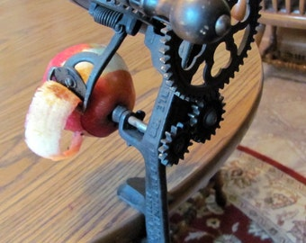 Apple Peeler by Goodell 1898 Works Good / Primitive Apple Peeler by Goodell