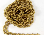 Vintage Twisted Cable Chain, Textured Links, Jewelry Making, Gold Brass, Oval Link Chain, Jewelry Chain, B'sue Boutiques, 3 Feet, Item06139