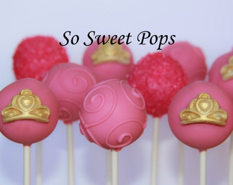 So Sweet Pops Happily Made Princess Crown Assortment Inspired Cake Pops