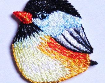 Bird iron on patch applique