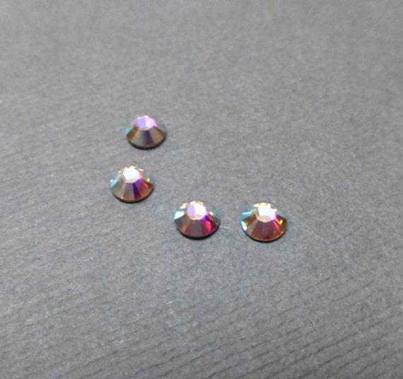 Swarovski Rhinestone Hotfix Cabochon. Flatback Crystal. Glass Cab. Wedding. Bridal. SS16. 2028. Crystal AB. Fifty (50).