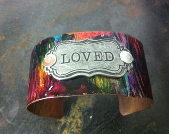 Loved rainbow ink bracelet