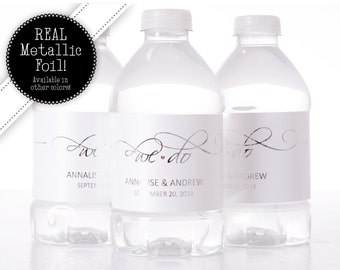 "400 NON FOIL ""We Do"" Wedding Water Bottle Labels"