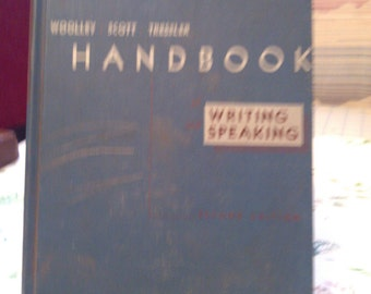 Handbook  Writing  Speaking by Woolley, Scott, Tressler