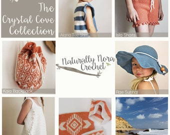 Instant Download 6 Pattern Collection-The Crystal Cove Collection
