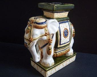 Elephant Statue - Elephant Plant Stand - Elephant - Elephant Figurine - Asian Elephant - Asian Decor