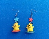 Reserved - Kawaii Surfing Pikachu Earrings - Only have one in stock -