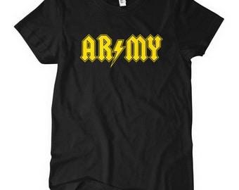 Women's Army Rocks T-shirt - S M L XL 2x - Ladies' US Army Tee, United States, Veteran - 4 Colors