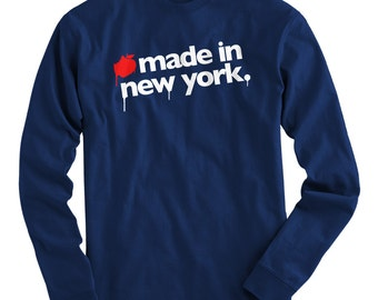 LS Made in New York Tee - Long Sleeve NYC T-shirt - Men and Kids - S M L XL 2x 3x 4x - New York City Shirt - 4 Colors