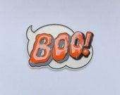 vintage Halloween pin brooch, Boo pin, 1984 Hallmark Cards, vintage jewelry, costume jewelry