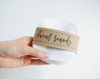 """Facial Rounds - Face Cloth - Make-up Remover - 4"""" Face Wipes - Choose your quantity -- WHITE"""
