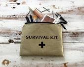 Survival Kit Bag, Survival Kit Makeup Bag, Cosmetic Case