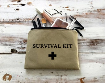 Survival Kit Bag, Survival Kit Makeup Bag, Cosmetic Case